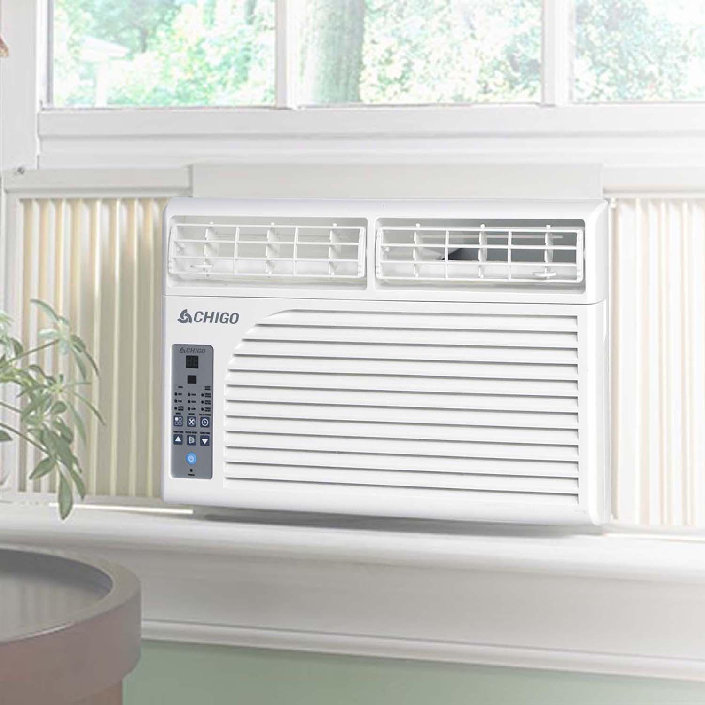 chigo energy star 6 400 btu window air conditioner with. Black Bedroom Furniture Sets. Home Design Ideas