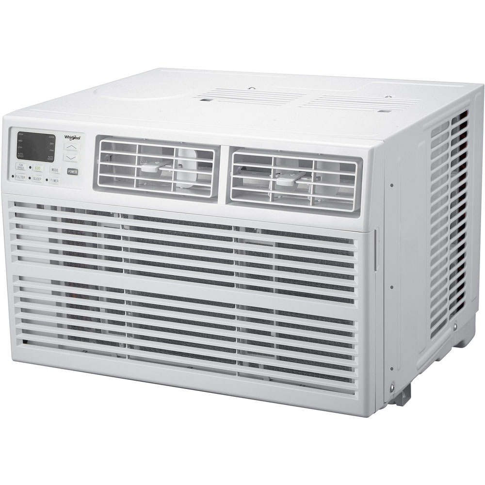 whirlpool energy star 15 000 btu 115v window mounted air conditioner with remote control whaw151bw. Black Bedroom Furniture Sets. Home Design Ideas