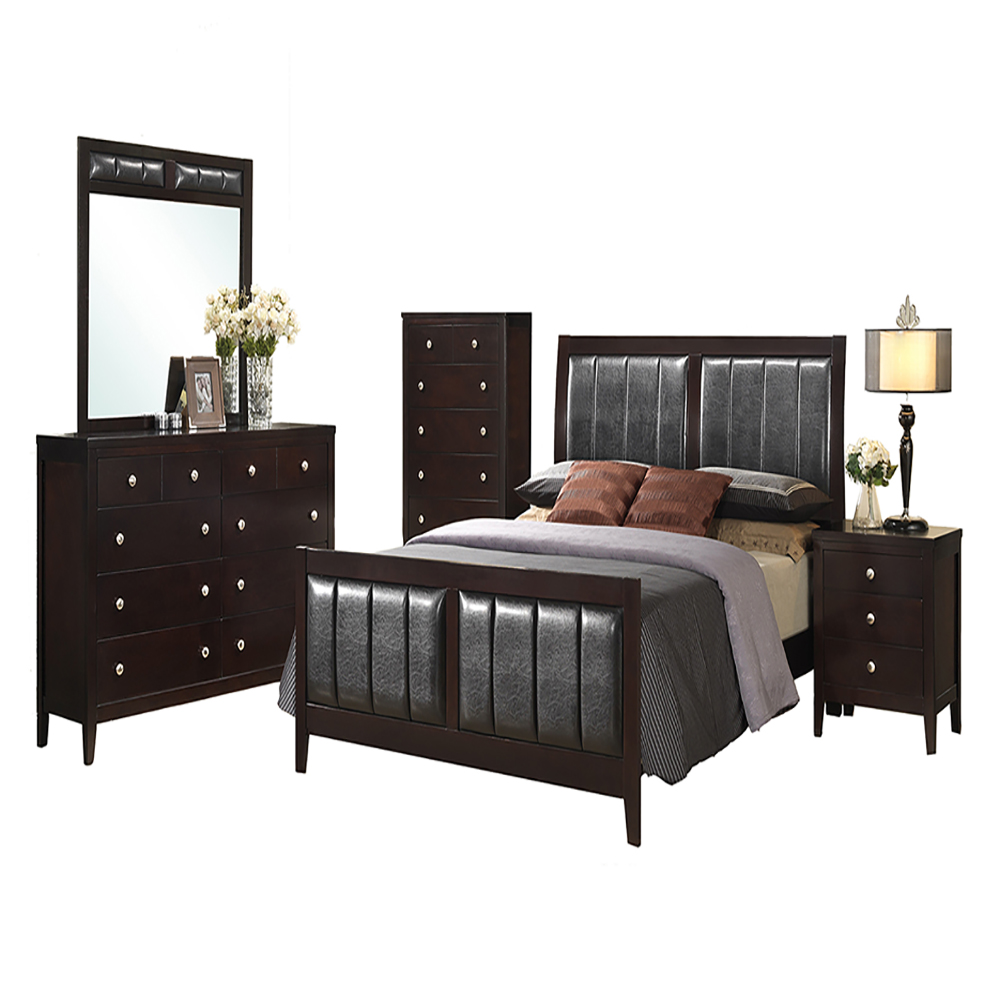 walden 5 piece bedroom suite queen bed dresser mirror chest nightstand 98105a5q1 de. Black Bedroom Furniture Sets. Home Design Ideas