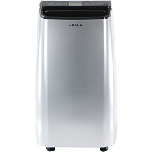 Amana Portable Air Conditioner with Remote Control in Silver/Gray for Rooms up to 250-Sq. Ft., AMAP101AW-2