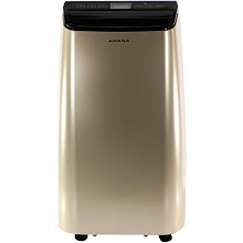 Amana Portable Air Conditioner with Remote Control in Gold/Black for Rooms up to 350 -Sq. Ft., AMAP121AD-2