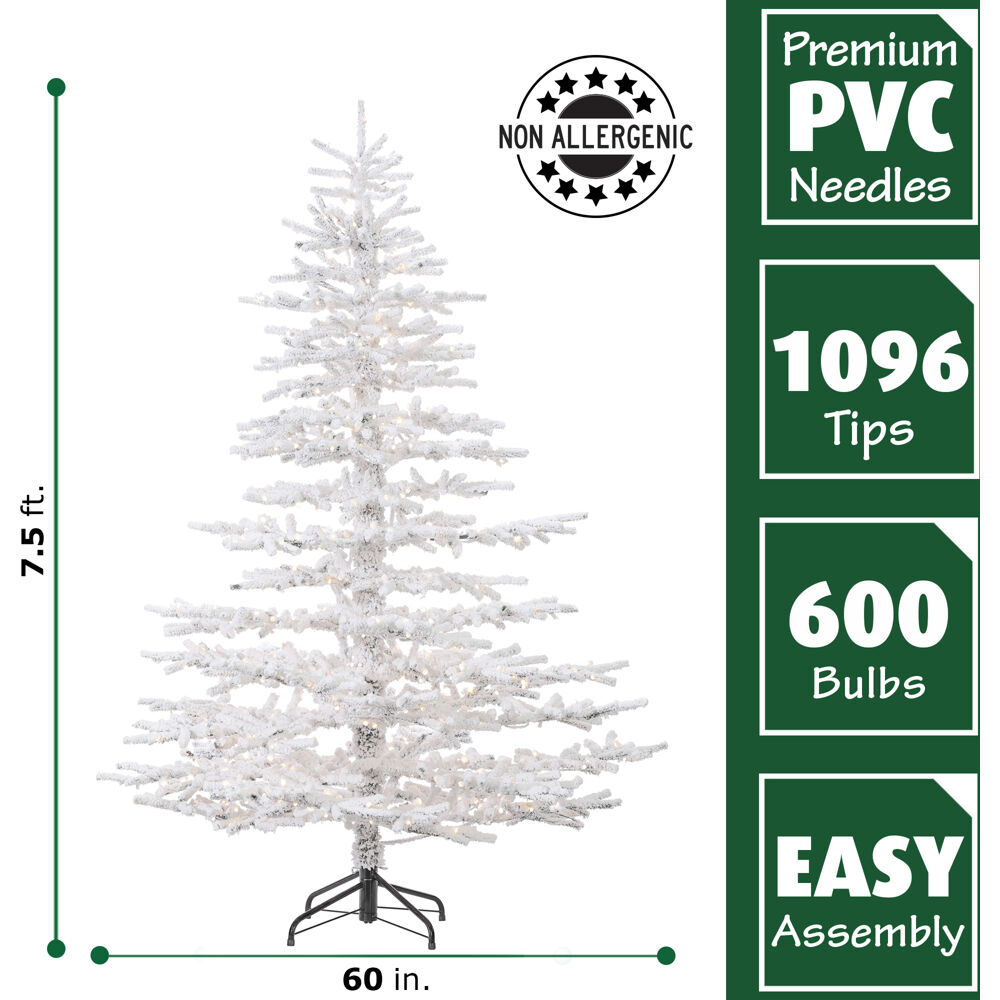 Steele S Christmas Tree Farm: Fraser Hill Farm 7.5 Ft. Arctic Pine Artificial Christmas