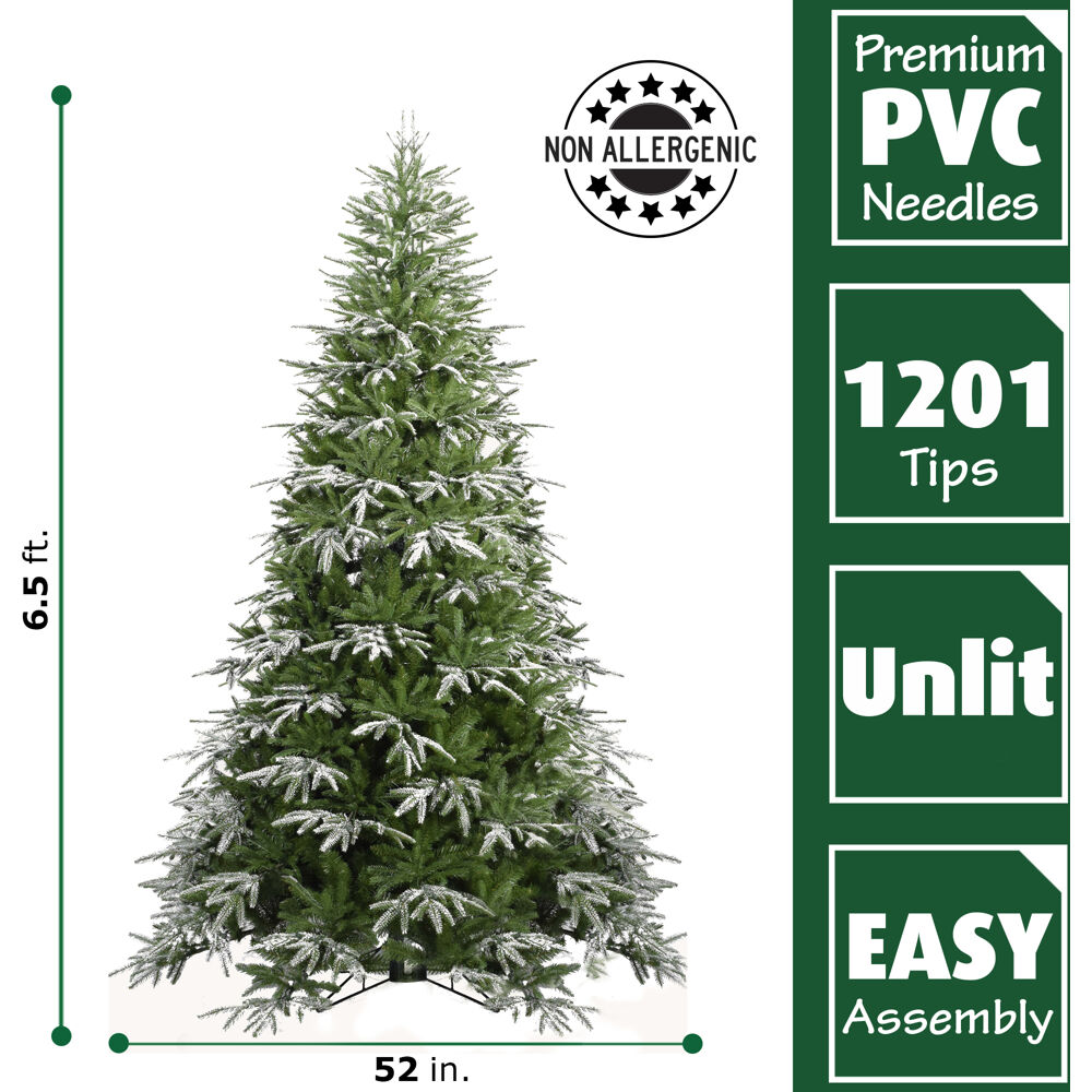 Fraser Hill Farm 6.5 Ft. Hunter Fir Artificial Christmas ...