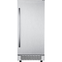 Hanover Grandeur Series 15 In. Stainless Steel Undercounter Ice Maker with Reversible Door and Touch Controls, HIM60701-3SS