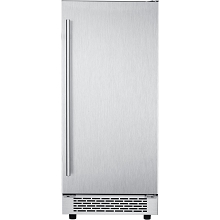 Hanover Studio Series 15 In. Stainless Steel Undercounter Ice Maker with Reversible Door and Touch Controls, HIM60701-4SS