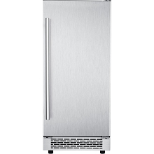 Hanover The Vault 15 In. Stainless Steel Undercounter Ice Maker with Reversible Door and Touch Controls, HIM60701-5SS