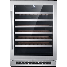 Hanover Library Series 24-In. Single Zone Wine Cooler with 54-Bottle Capacity and Reversible Door Hinge, HWC60301-1SS