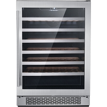 Hanover Studio Series 24-In. Single Zone Wine Cooler with 54-Bottle Capacity and Reversible Door Hinge, HWC60301-4SS