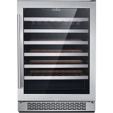 Hanover The Vault 24-In. Single Zone Wine Cooler with 54-Bottle Capacity and Reversible Door Hinge, HWC60301-5SS