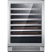 Hanover Luxury Series 24-In. Single Zone Wine Cooler with 54-Bottle Capacity and Reversible Door Hinge, HWC60301-6SS