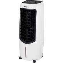 Honeywell 194-206 CFM Indoor Evaporative Air Cooler (Swamp Cooler) with Remote Control in White, TC10PEU