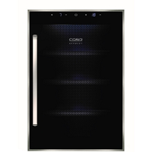Caso Design WineDuett Touch 12-Bottle Dual-Zone Wine Cooler, 10625