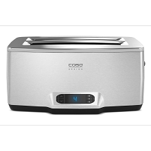 Caso Design Inox 4 Four-Slice Toaster with Wire Warming Basket Attachment, 12779