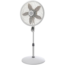 Lasko 18 In. Adjustable Pedestal Fan with Remote Control in White - 1850