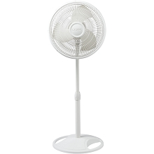 Lasko 16 In. Oscillating Floor Fan in White - 2520