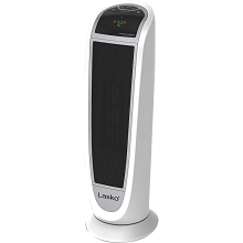 Lasko 23 In. Digital Ceramic Tower Heater with Remote Control - Black/White - 5165