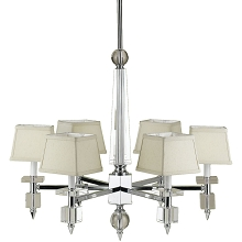 Cluny 6-Light Chandelier with Cream Shades - 6679-6H