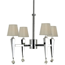 Margo Four Light Chandelier in Cream - 6680-4H