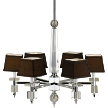 Cluny Six Light Chandelier in Chocolate Brown - 6685-6H