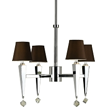Margo Four Light Chandelier in Chocolate Brown - 6687-4H