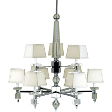 6761 9-Light Chandelier- Cream Shades