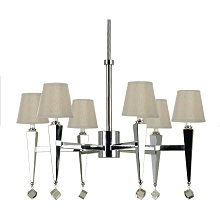 6780 6-Light Chandelier- Cream Shades