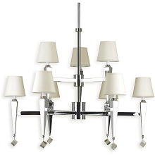 6901 9-Light Chandelier- Cream Shades