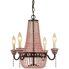 Parlor Mini Chandelier in Pink Pearl - 7002-4H