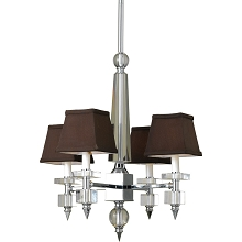 7476 Four Light Chandelier- Chocolate Shades