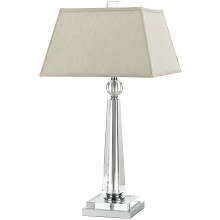 8211 Crystal Table Lamp- Cream Shade