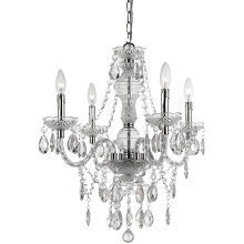 Naples Four Light Mini Chandelier in Clear - 8350-4H