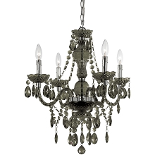 Naples Mini Chandelier in Smoked Glass - 8351-4H
