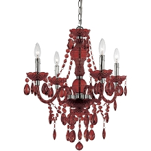 Naples Mini Chandelier in Red - 8354-4H