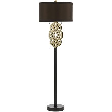 Grill Floor Lamp- Satin Brass - 8424-FL
