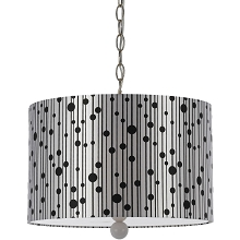 8443 Pendant- Silver Shade/White Finial