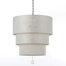 Over The Top Pendant in White - 8444-5H