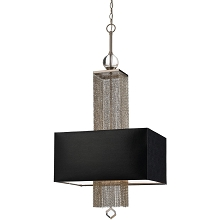 Casby Three Light Pendant in Black - 8446-3H