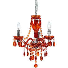 Fulton Mini Chandelier in Orange - 8500-3H
