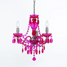 Fulton Mini Chandelier in Hot Pink - 8502-3H