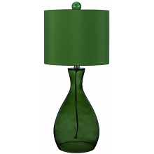 Mercer Hand-Blown Glass Table Lamp- Green - 8515-TL