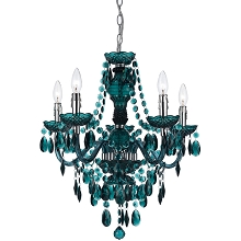 Fulton Five Light Chandelier in Green - 8525-5H