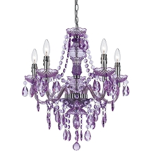 Fulton Five Light Chandelier in Grape - 8526-5H