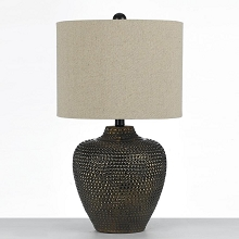 Danbury Ceramic Table Lamp- Brown - 8559-TL
