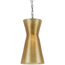Aimee Mini Recycled Woven Plastic Pendant- Gold - 8580-1P