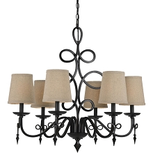 Rhythm Chandelier in Bronze - 8600-6H
