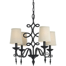 Rhythm Mini Chandelier - Oil Rubbed Bronze - 8601-4H