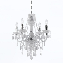 Naples Mini Chandelier in White - 8680-4H