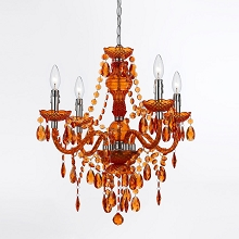 Naples Mini Chandelier in Orange - 8682-4H