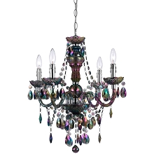 Naples Mini Chandelier in Iridescent Smoked Glass - 9001-4H