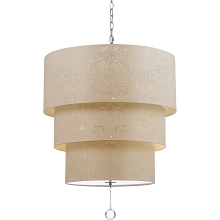 Over The Top Pendant in Cream - 9008-5H